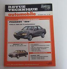 Revue technique automobile RTA 486 Peugeot 405 1580 & 1905 cm3 à carburateur