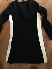"""WHITE HOUSE BLACK MARKET"" BLACK KNIT CAREER CASUAL V Neck Sweater DRESS : XS"