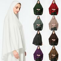 Women Muslim Prayer Dress Long Scarf Hijab Jilbab Islamic Large Overhead Clothes