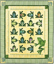 New Pieced and Applique FROG Quilt Wallhanging Pattern 55x64