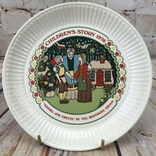 "Wedgwood 1976 Children's Story 6"" Plate Hanzel & Gretel The Brother Grimm"