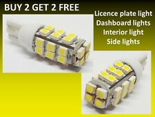 Car LED 501 T10 W5W COLD BRIGHT WHITE Side Light Bulb Dashboard Interior 28 SMD