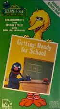 Sesame Street: Getting Ready For School 1987 VHS Video Tape Henson Muppets NEW