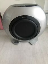 KEF HTB2 GLOSSY SILVER COLOUR POWERED HOME THEATRE & STEREO SYSTEM USE SUBWOOFER