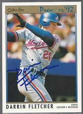 Montreal Expos DARRIN FLETCHER Signed Card