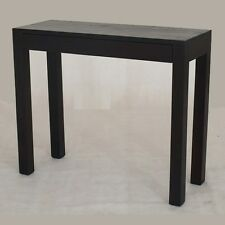Hall Table, Small Narrow Table with Drawer, Chocolate Brown, 90x35, Timber Table