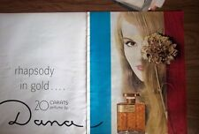 1963 Dana 20 Carats Perfume Bottle Two Page Color Ad