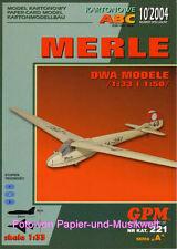 """GPM 221 - Segelflugzeug """"Merle"""" in 1:33 und in 1:50"""