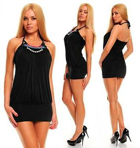 Womens Embellished Sexy Bodycon Backless Party Mini Dress size 8 10 12