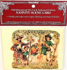 NATIVITY SCENE CARD 3D Stand up CHRISTMAS Display MINT/SEALED B. Shackman