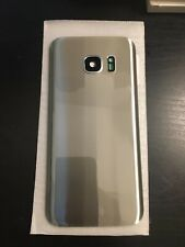 Samsung Galaxy S7 G930 Rear Battery Door Housing Back Cover Glass No Logo Silver