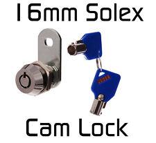Solex 16mm CAM LOCK Tool Box Ute Hard top Desk Quility Security (AU SELLER)