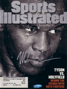 Mike Tyson autographed signed autograph 1997 Sports Illustrated SI TriStar TSP