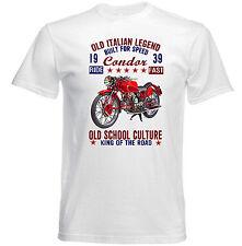 Vintage Italien Moto Moto Guzzi Condor-Nouveau T-shirt en coton