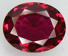 12.81CT. EXCELLENT CUT OVAL 15.7x12.7 MM. PIGEON BLOOD RED RUBY LAB CORUNDUM
