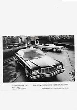 USA 1974 CHEVROLET CAPRICE SALOON CAR UK PRESS PHOTO 'BROCHURE'