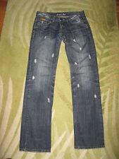 Damen Jeans Crazy Age 38 28 gewollte Löcher destroyed blau