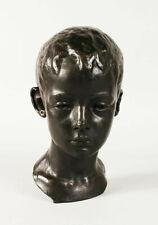 Important Vintage Titanic Bronze Male Bust Figure - Boy Youth - Eugene Abbott