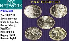 2018-2019 P & D Innovation Dollars All 10 Coins Intro dollar, DE, GA, NJ, & PA