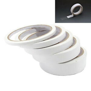DOUBLE SIDED CLEAR STICKY TAPE DIY STRONG CRAFT ADHESIVE 6MM 12MM 24MM 48MM