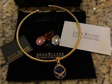 NIB Joan Rivers Classic Collection Egg Necklace Changeable Multi Colors