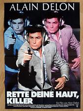 ALAIN DELON Pour la peau d'un flic - vintage German poster 1981 style B