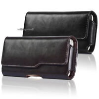 Genuine Leather Phone Case Pouch for iPhone Xr Xs X 8 7 6 Plus Holster Belt Clip