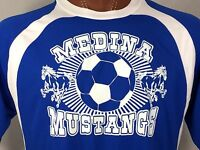 Medina Mustangs Blue Soccer Jersey 9-18-2010 Red vs. Blue 31 Club L