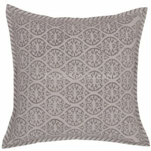 "Set Of 2 Pcs Block Printed Cushion Cover Handmade Cotton 16"" Square Pillow Cases"