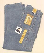 Lee Mens Jeans Carpenter Dungarees 36x34 Straight Leg Retro Stone Light Blue NWT
