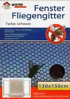 5x Insektenschutz Fenster Fliegennetz schwarz | Fliegengitter | Moskitonetz