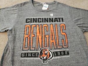 New NFL Football Cincinnati Bengals T-Shirt Gray Mens XL Junk Food Los Angeles