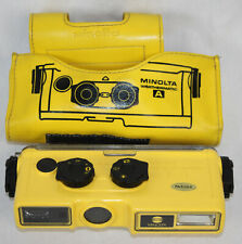 Vintage Minolta Weathermatic A Camera In Carry Case Underwater Film Diver Yellow