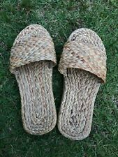 Water Hyacinth Woven Slippers Thai Handmade