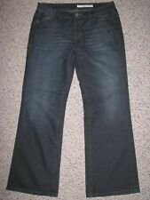 DKNY WOMEN'S BOOT CUT DARK WASH JEANS 16 INSEAM 32