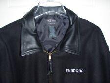SHIMANO Vintage Sport/Fishing Jacket Wool/Leather XXL New