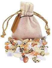 Enjoyment Power Pouch Healing Crystals Stones Set Tumbled Natural Gemstones