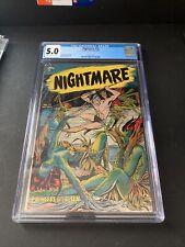 Nightmare 13 CGC 5.0 MATT BAKER MERMAID GGA 1954 St. John Horror OFF-WHITE WHITE