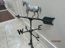 Vintage Mid Century Aluminum Horse Weather Vane (Off)