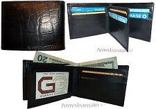 Men's Crocodile skin printed leather man's bi-fold wallet 9 card+ID BR New Style