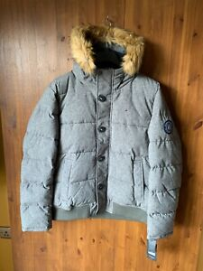 RRP £230 - TOMMY HILFIGER PARKA Coat Jacket Puffer Quilted Grey XL - XXL - BNWT