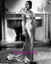 "MERLE OBERON 8X10 Lab Photo 1935 ""FOLIES BERGERE DE PARIS"" SHIMMERING FASHION"