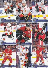 Calgary Flames 2016-17 Upper Deck Complete Team Set 12 Different Cards