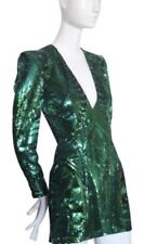 NWT Balmain X H&M Green Sequin Dress Sz. 6, EU36, UK 10