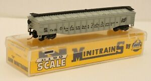 American Outline, AHM Minitrains N Gauge 4453L Covered Gondola, RN OSTX1908, Box