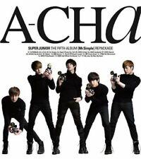 Super Junior-[A-Cha] 5th Repackage Album CD+Booklet+Gift K-POP Sealed SUJU