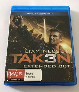 Taken 3 Tak3n Blu Ray Like New* Rated MA15+ Movie 🍿 Liam Neeson Region B Action