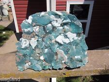 Slag Cullet Glass Rock Teal Swirl 16.10 lb Rocks L40 Yard Deco Aquarium