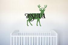 Deer Name Vinyl Decal Wall Art Decor Forest Hunting Animal Nursery Kids Children