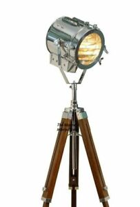 Nautical Hollywood Spotlight Searchlight Studio Floor Lamp With Tripod Stand